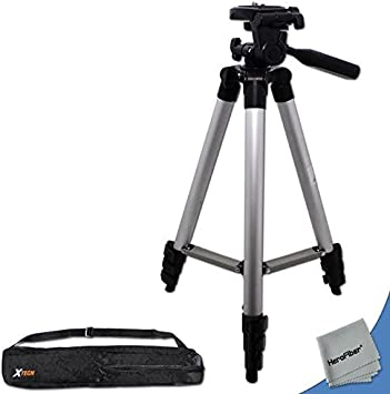 60Da /& 70D Digital SLR Cameras w Ultra Gentle Cleaning Cloth 60D HeroFiber 75 Pro Elite Series Photo//Video Tripod /& Deluxe Soft Carrying Case for Canon EOS 7D