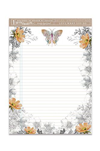 - Papaya Women's Art 50 Lined Pages Lovely Legal List Pad (Paisley Butterfly)