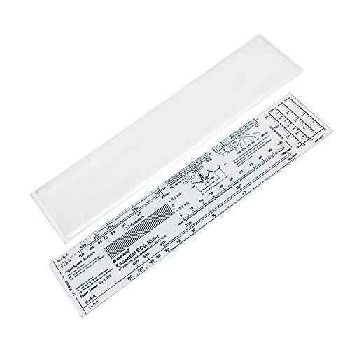 Essential ECG EKG Ruler Pocketcard in English with Protect Sheath by Warp United ()
