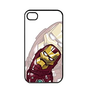 Popclar Cute Cartoon Iron Man Apple iPhone 4 / 4s pc hard hard Black or White case (Black)