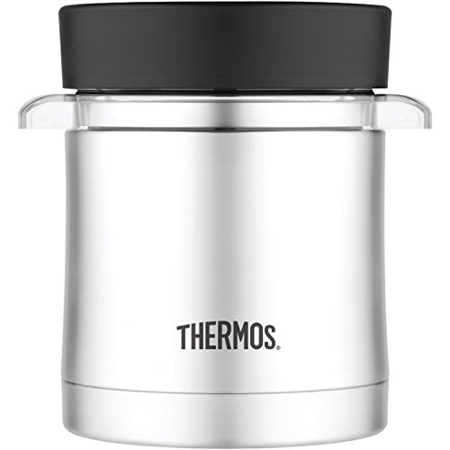 Thermos 12 Ounce Food Jar with Microwavable Container, Stainless Steel ()