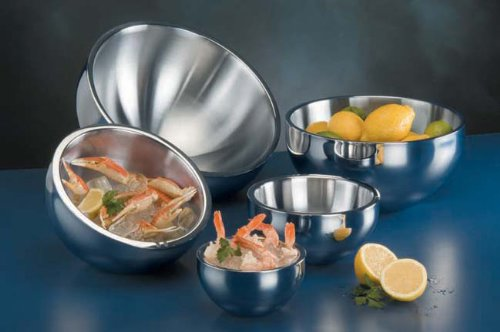 American Metalcraft AB14 Double-Wall Angle Bowl, Stainless Steel, 304 oz. by American Metalcraft