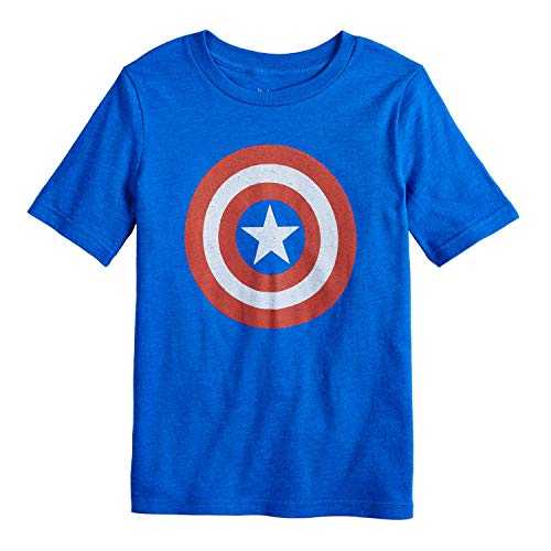 Jumping Beans Little Boys' 4-12 Captain America Shield Tee 10 Veda Pool