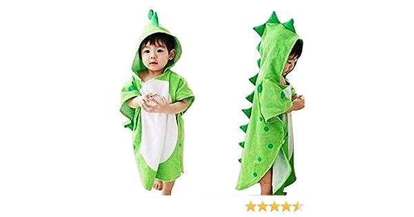 Toalla de baño con capucha para bebés y niños, 100% algodón prémium, para playa o piscina, poncho unisex, de JYSP Dinosaur Talla:60 * 120 cm/23.6 * 47.2 ...