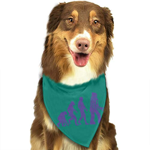 Address Verb Dog Bandana Pet Scarf Robot Evolution Cute Triangle Bibs Baby Puppy Cat Kitten -