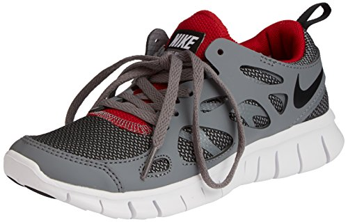 Nike Free Run 2, Unisex-Kinder Laufschuhe, Grau (Wolf Grey/Black-Gym Red-White 035), 38 EU