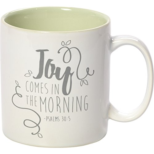 Precious Moments 173414 Green Stoneware 11Oz Coffee Mug Inspirational Home Decor, One Size, Multi by Precious Moments