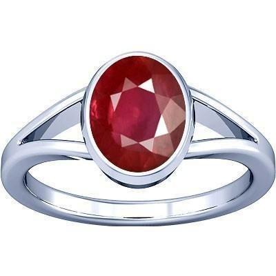 Divya Shakti 9.25-9.50 CaratsRuby Ring ( Maanik / Manikya Stone Silver Ring ) 100% Original AAA Quality Gemstone