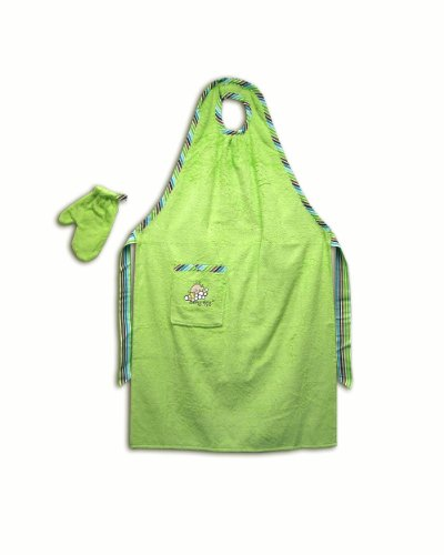 (Stay-Dry Bath Apron and Towel,)