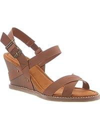 Bearpaw Women's Roselle Comfort Slingback Wedge Sandals