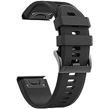ANCOOL for Garmin Fenix 5 Band Easy Fit 22mm Width Soft Silicone Watch Strap for Garmin Fenix 5/Fenix 5 Plus/Forerunner 935/Approach S60/Quatix 5 [NOT for Fenix 5X]