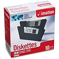 """imation Products - imation - 3.5"""" Diskettes, IBM-Formatted, DS/HD, 10/Box - Sold As 1 Box - Cost effective. - Low torque reduces diskette drive wear. - Antistatic design. - Formatted. -"""