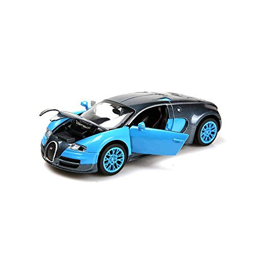 ZHMY 1:32 Bugatti Veyron Alloy Diecast car Model Collection Light&Sound Blue ()