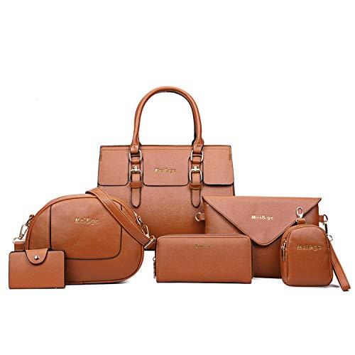 Tan Coin Set - PERHAPS U Women Designer Purses and Handbags set Fashion Satchel Crossbody Bag Ladies top handle Soft Leather Shoulder Bags Totes (tan)
