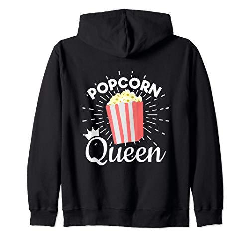 - Popcorn Queen - Movie Lover Snack Food - Popcorn  Zip Hoodie