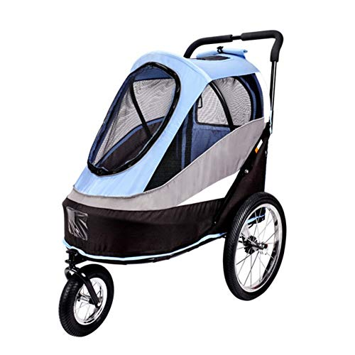 - Ryan Dog Strollers, Outdoor Travel Second Generation Dual Use Pet Push/Trailer Dog Pull Trolley Carts for Dogs Cats Medium and Large Disabled Dogs Carts (Color : Blue)
