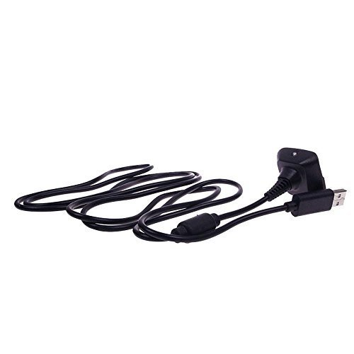 USB Power Charge Charger Cable Cord for Xbox360 Wireless Game Controller Black