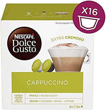 Nestle - Cafe Capuccino Dolce Gusto, 3 x 16 Capsulas.: Amazon.es ...