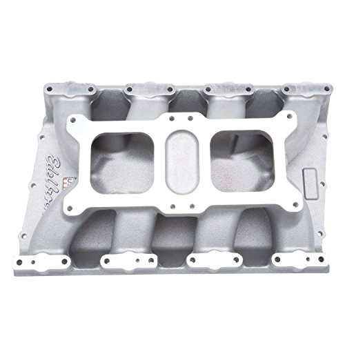 - Edelbrock 7524 Dual-Quad Intake Manifold 2500-6500 rpm Non-EGR Carbureted For Dual 4 bbl Carbs On Chrysler 426-572 HEMI V8 For High Performance Race Use Only Dual-Quad Intake Manifold
