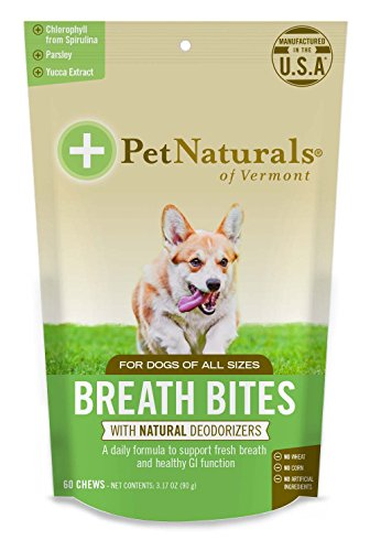 Pet Natural's of Vermont 60 Count Breath Bites Dental Formula Soft Chews for Dogs (Has Breath Dog Bad)