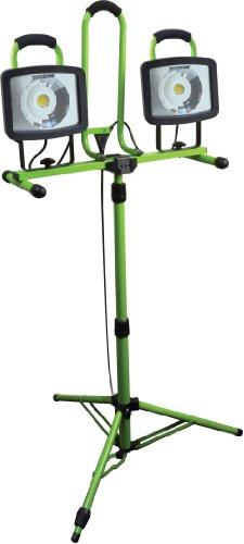 Woods L1682 46-watt Twin Head Telescoping Tripod Array LED Work Light with 5-Foot Cord by Woods
