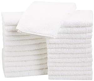 AmazonBasics Cotton Washcloths, 24 - Pack