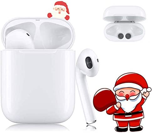 Bluetooth Headset Wireless Earbuds Bluetooth 5.0 Noise-Canceling Headphone Built-in Microphone IPX5 Waterproof Pop-up Automatically Paired and Compatible with Airpods/iPhone/Samsung/Android