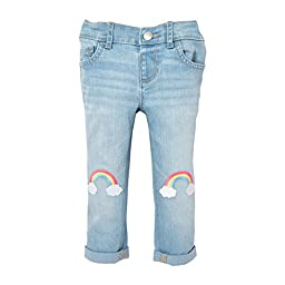 The Children\'s Place Girls\' Sweet Li\'l Embroidered Jeans, Abbiewash, 12-18 Months