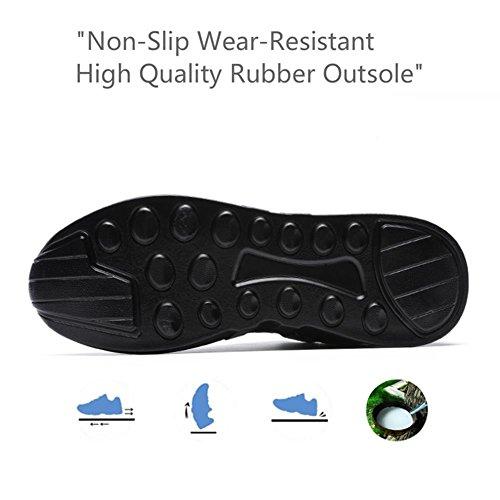 Para Ocasionales Caminar Respirables Hombres azul TUOKING Ligeros Cordones de Zapatillas Atléticos Deportivos Resistentes Zapatos Deporte Zapatos Zapatos Para con Blanco tIwwZq8fx