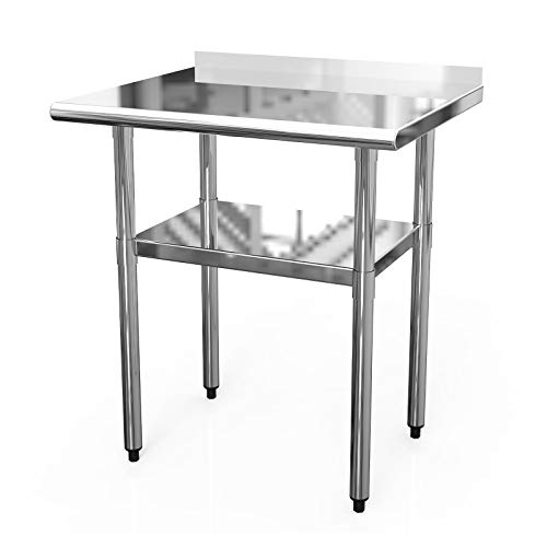 Stainless Steel Work Table 30X24 Inches Commercial Working PrepTable with 1 1/2