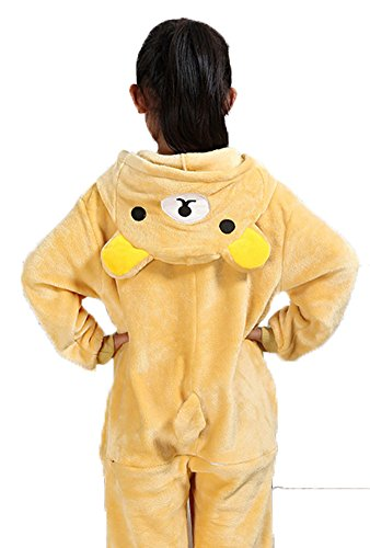 Shmily_B Unisex Costume Animal Onesie Pajamas Halloween Children Cosplay Outfit (Rilakkuma, -