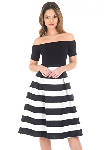 2 in 1 black and white dress - 7