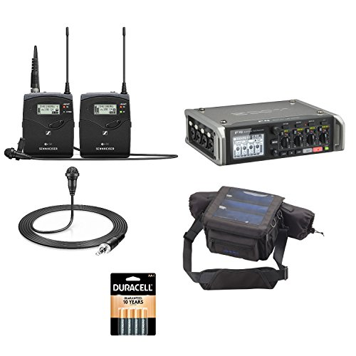 Sennheiser ew112-p G4 System with Zoom F4 Multitrack Field Recorder, Protective Case and Batteries ()