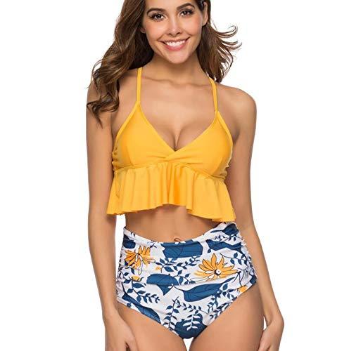 Suyun Bagno Costume Diviso In Da Con Swimsuit A Yellow Vita Cinturino Bikini Alta rErRwqxz