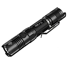 Nitecore P12GT Cree XP-L Hi V3 LED 1000 Lumen Rechargeable Flashlight with 2300mAh 18650 Li-ion Battery , Black
