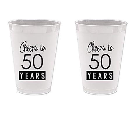 Amazon.com: 50º cumpleaños Frost Flex vasos de plástico ...