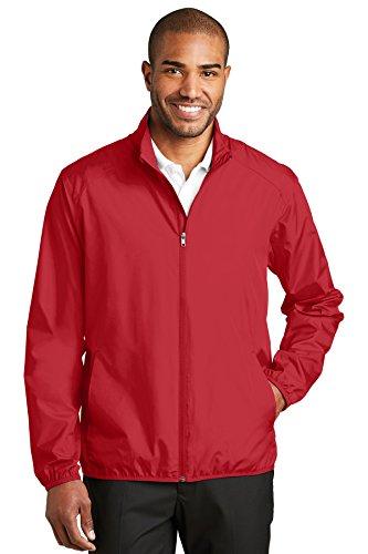 Port Authority Zephyr Full-Zip Jacket. J344 Rich Red - Full Zip Unlined Wind Jacket