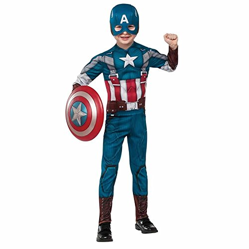 (Rubies Marvel Comics Collection: Captain America: The Winter Soldier Deluxe Retro Suit Captain America Costume, Child)