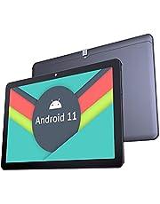 Tablet 10 inch Android 11.0-YUMKEM Tablet PC, Octa-Core, 4 GB RAM, 64 GB ROM, WiFi, 1280 x 800 HD, 2 MP + 5 MP camera, 5000 mAh, Android Tablet ondersteunt GPS Bluetooth 4.2, Type-C, U221, zwart