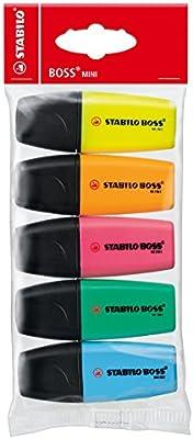 Stabilo Boss Mini - Marcadores, multicolor, pack de 5 unidades ...