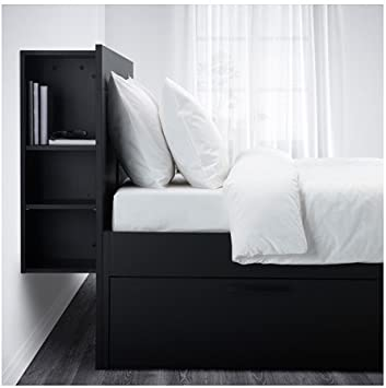 Amazon Com Ikea Full Size Bed Frame With Storage Headboard