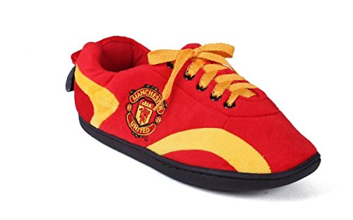 Manchester United Shoes - MAU05-2 Manchester United - Medium - Happy Feet Mens and Womens All Around Slippers