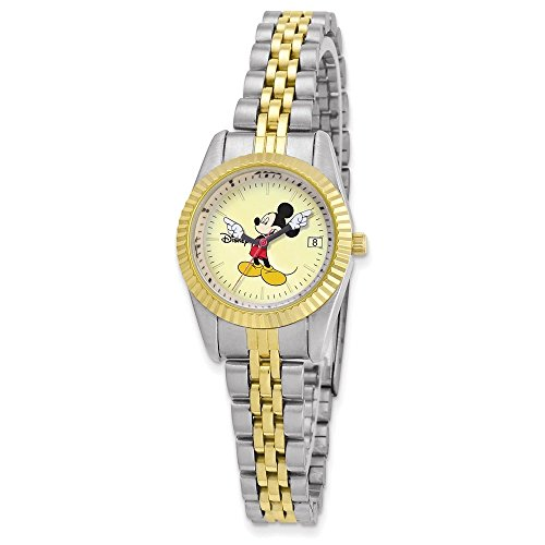 Disney Adult Size Two-tone w/Moving Arms Mickey Mouse Watch