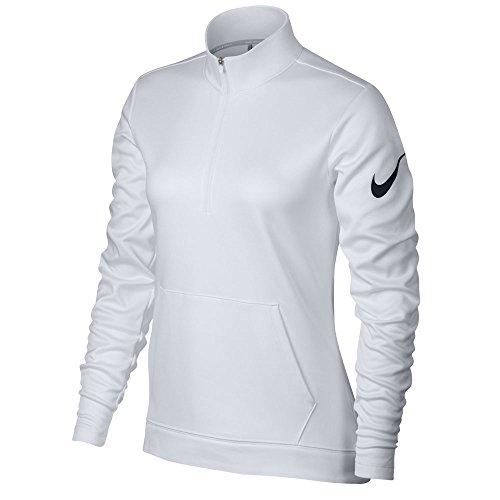- Nike Therma Fit Half Zip Fleece Golf Jacket 2017 Women White/Black XX-Large