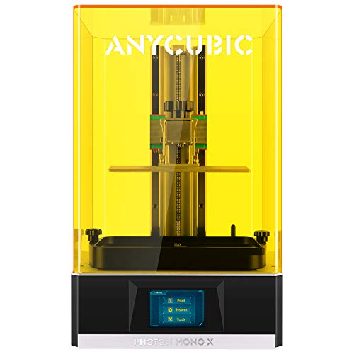 ANYCUBIC Photon Mono X Resin 3D Printer, Large LCD UV Photocuring Fast Printing with 8.9″ 4K Monochrome Screen, Matrix UV LED Light Source and WIFI Control, 192(L)x120(W)x245(H)mm / 7.55″x4.72″x9.84″
