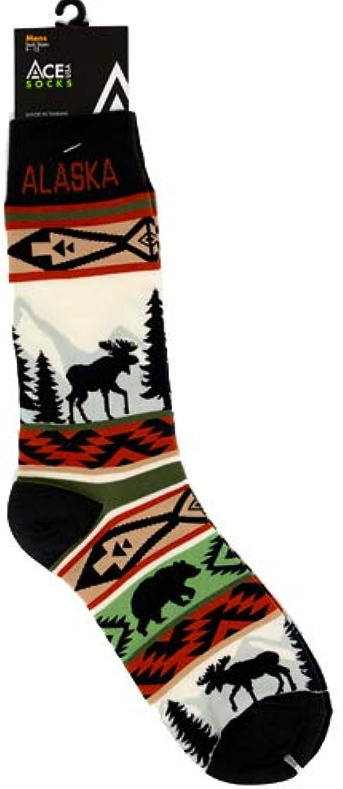Moose Mountain Wildlife Quarter Socks Blue Stripe