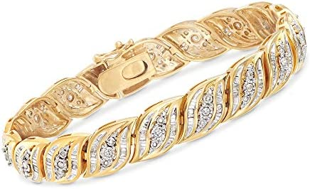 Ross-Simons 1.00 ct. t.w. Diamond Bracelet in 18kt Gold Over Sterling