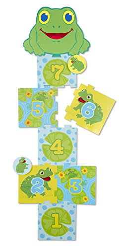 Melissa & Doug Sunny Patch Skippy Frog Hopscotch Action Game - 8 Foam Pads ()