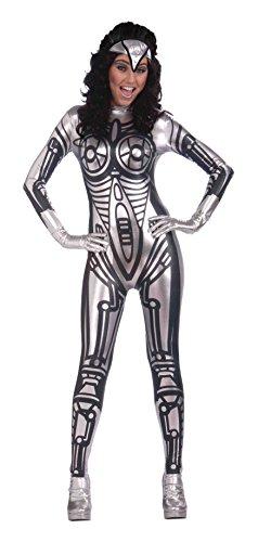 (Bristol Novelty AC286 Robot Female Jumpsuit, Black, Size)