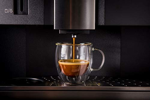 Demitasse Liner (Double wall insulated glass Espresso mugs, 5.4 Ounces (set of 2 + 2 spoons))